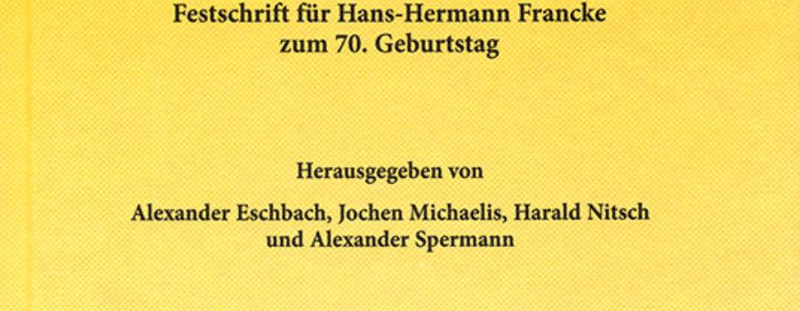 Nach der Wirtschafts- und Finanzkrise – Festschrift für Hans-Hermann Francke