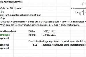 Statistische Repräsentativität – mit Tool zur Berechnung